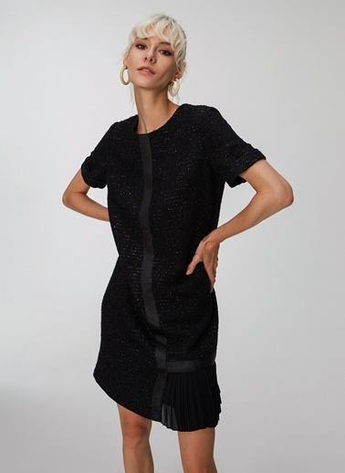People By Fabrika Tüvit Elbise Siyah